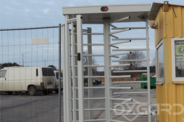 T-10 full-height turnstile, construction site Bonava in Tallinn, Estonia