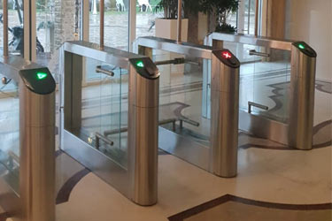 Turnstile Praktika T-05 in the hotel Dovil Anapa city, Russia
