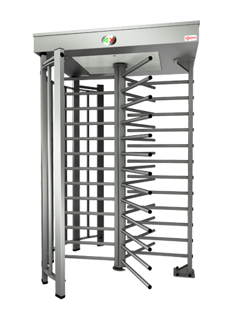Oxgard Praktika T-10-H full height rotary turnstile with stainless steel photo 3d