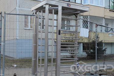 T-10 full-height turnstile, construction site in Tallinn, Estonia