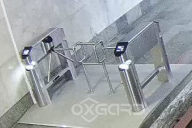 Praktika T-02-i turnstile with build-in bar-code scanner Motorola at New Athos Cave, Abkhazia