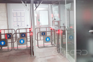 K-15 swing gates at the posts of passport control, Murmansk Airport